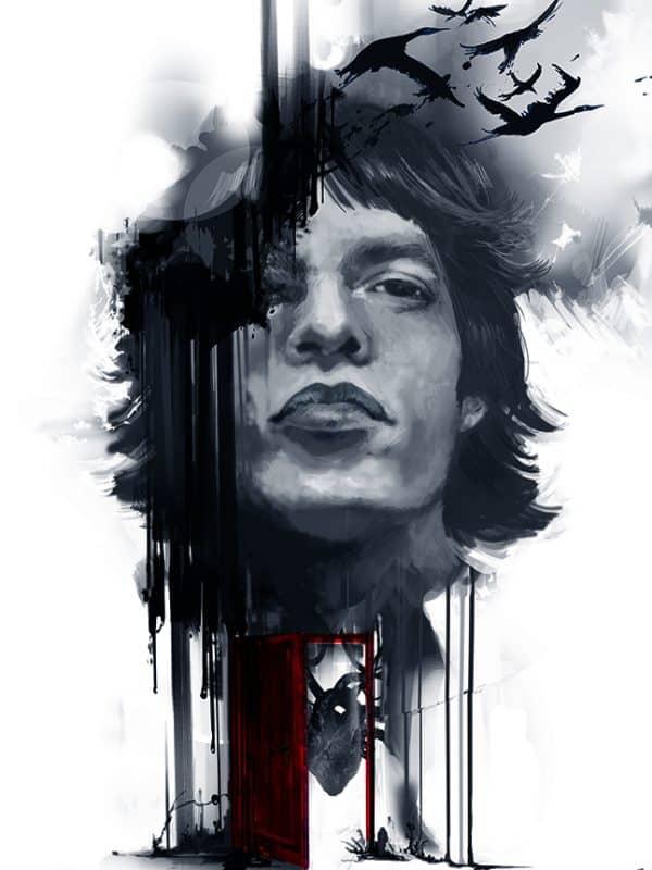 Portret Mick Jaggera