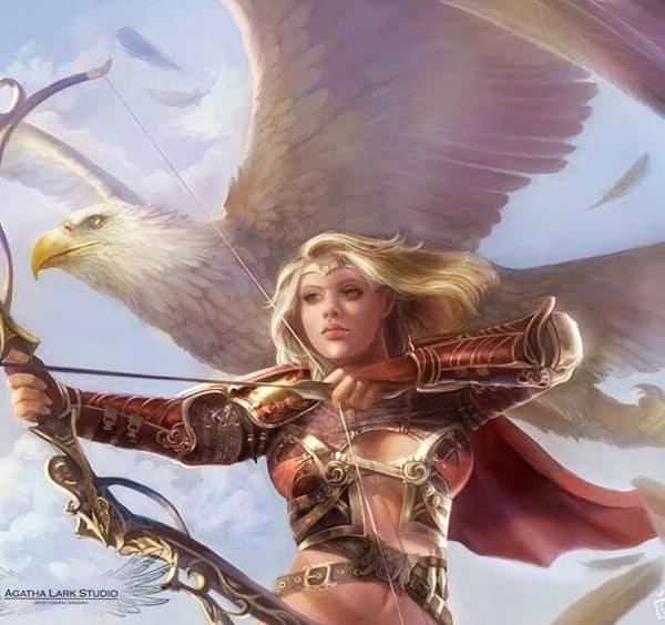 Grafika w stylu fantasy przedstawiająca Eagle Eye
