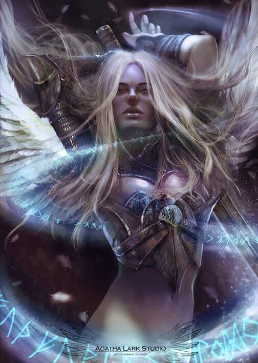 Grafika wstylu fantasy przedstawiająca Soanalę